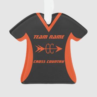 Cross Country trägt orange und schwarzes Jersey Ornament