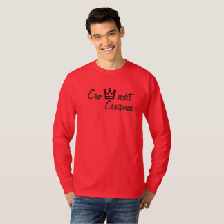 Crowndit chrismas rote lange Hülse T-Shirt