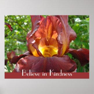 Croyez à la fleur d'iris de cadeaux d'impression d poster