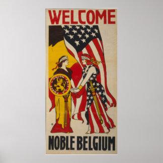 Cru Belgique noble bienvenue Poster