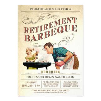 Cru de BBQ des invitations | de partie de retraite