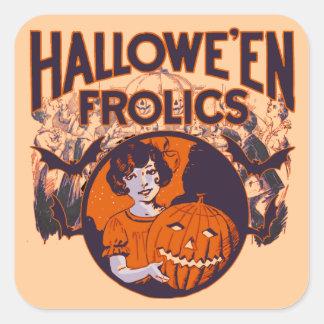 Cru espiègle de Halloween Sticker Carré