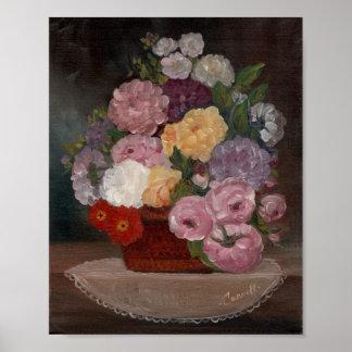 Cru floral poster
