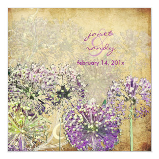 Cru/globe Flower/in le jardin Carton D'invitation 13,33 Cm