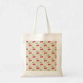 Cru rustique de cerises d'impression minuscule sac en toile budget