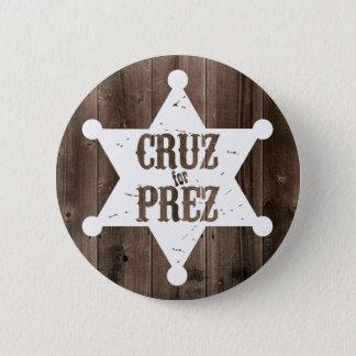 Cruz für Prez Stern - Ted Cruz für Präsidenten Runder Button 5,7 Cm