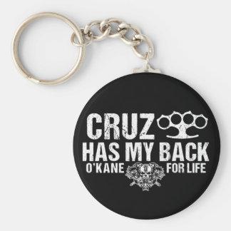 Cruz hat mein hinteres Keychain Schlüsselanhänger