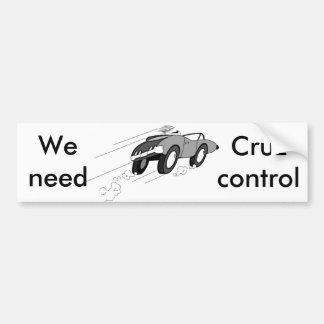 Cruz Kontrolle Autoaufkleber