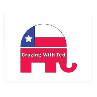 Cruzing mit Ted, Unterstützung Ted Cruz für 2016 Postkarte