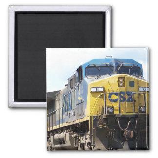 CSX Railroad AC4400CW #6 mit einem Kohlen-Zug Quadratischer Magnet
