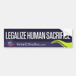 Cthulhu für Präsidenten '16 legalisieren Autoaufkleber