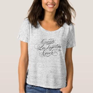 Cuando Los Lagartijos Corren Freund-T-Stück (grau) T-Shirt