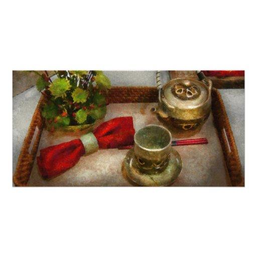 Cuisine - cérémonie de thé formelle cartes de vœux avec photo