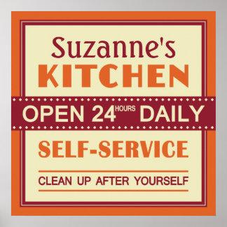 Cuisine - nom fait sur commande - affiche