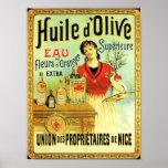 Cuisine vintage d'huile d'olive de Vieux Monde Posters