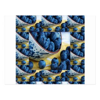 Cuisinesalate gesunde Diät der BlaubeerKöche Postkarte