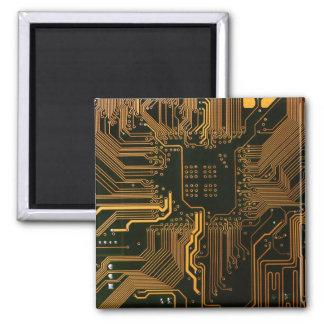 Cuivre frais et noir d'ordinateur de bord de circu magnet carré
