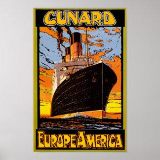 Cunard Europe-Amérique Posters