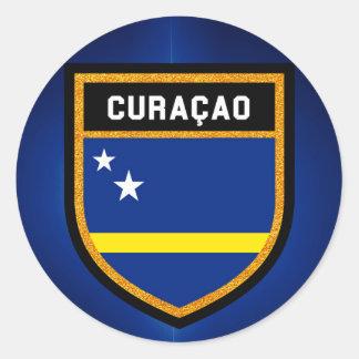 Curaçao-Flagge Runder Aufkleber