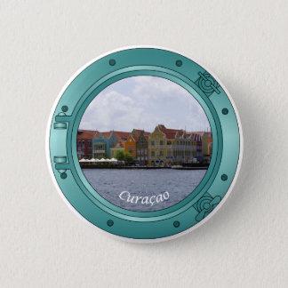 Curaçao-Öffnung Runder Button 5,7 Cm
