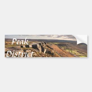 Curbar Rand auf dem Höchstbezirksandenken-Foto Autoaufkleber