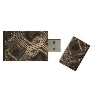 Curiosouija Daumen-Antrieb Holz USB Stick