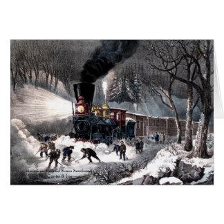 Currier u. Ives - Gruß-Karte - Snowbound Grußkarte