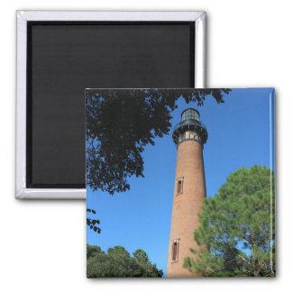 Currituck Strand-Leuchtturm Quadratischer Magnet