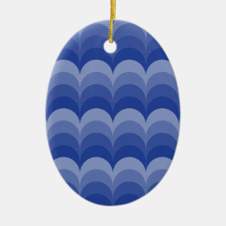 Curvy Wellen Ovales Keramik Ornament