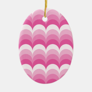 Curvy Wellenrosa Keramik Ornament