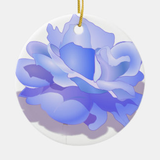 Custom Blue Rose Flower, Blue Rose Gifts, Keramik Ornament