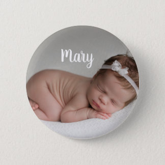 Custom photo and name button personalized