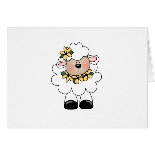customlambflowers grußkarte