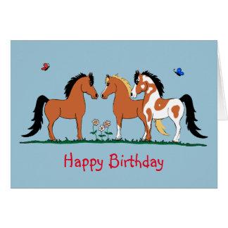 Custume Pferdekumpel-Geburtstags-Karte Grußkarte