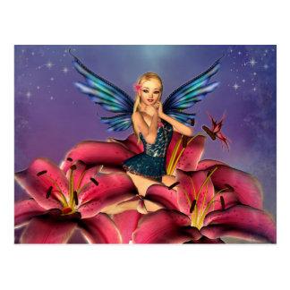 Cute blonde Fairy Postkarte