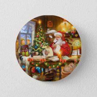 Cute holiday Christmas Runder Button 5,1 Cm