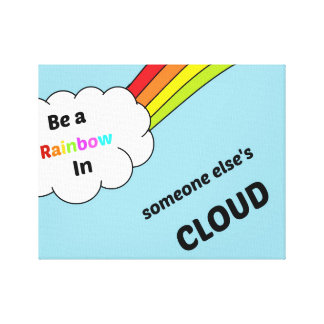 cute_rainbow_quote gespannter galeriedruck
