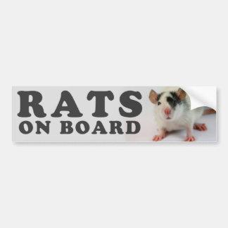 (Cute) Rats on board Autocollant De Voiture