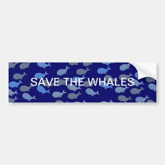 cute whales autocollant de voiture