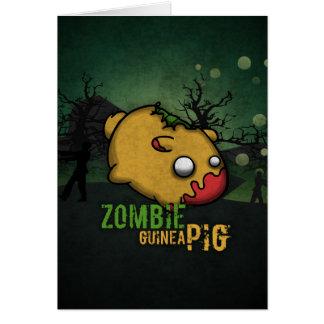 Cute Zombie Guinea Pig Karte