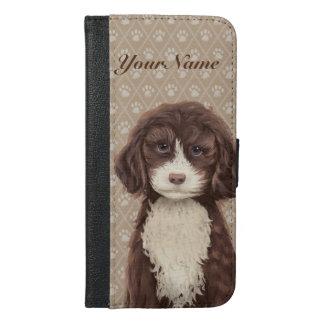 ©CuteLittlePuppy Labradoodle Hundewelpen-Beige iPhone 6/6s Plus Geldbeutel Hülle