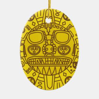 Cuzco Wappen Ovales Keramik Ornament