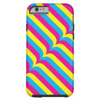 Cyan-blaue gelbe Magenta Stripes geometrisches Tough iPhone 6 Hülle