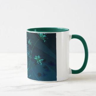 Cyan-blaues Folie Bouqet ~Mug~ Tasse