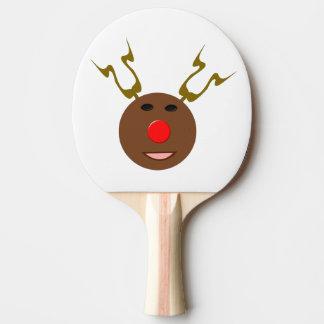 Cyber-Weihnachtsren-Klingeln Pong Paddel Tischtennis Schläger
