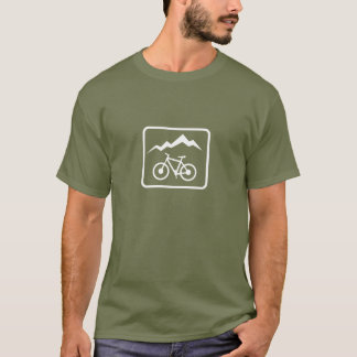 Cycliste de montagne t-shirt