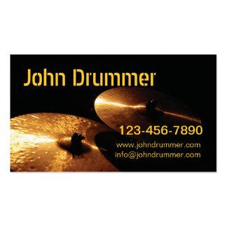 cymbales, batteur de John, Carte De Visite Standard