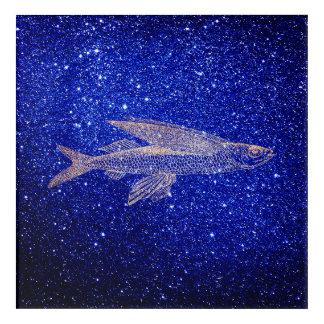Cypselurus Fliegen-Fisch-Ozean-Seeblaue Acryldruck
