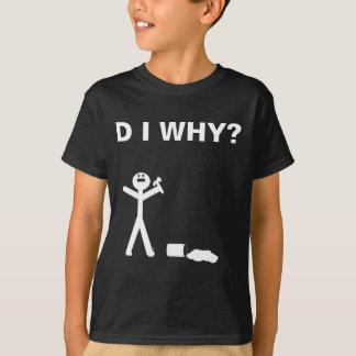 D I WARUM? Dunkle Farbjugend-Größen T-Shirt