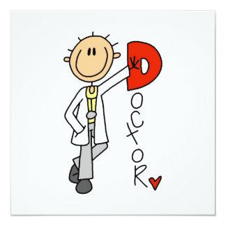 D ist für Doktor Quadratische 13,3 Cm Einladungskarte